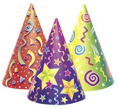 party hats 6 kaleidoscope kids party hats