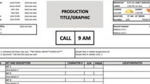 Call Sheet Template A Free Call Sheet Template To Get Your Crew On The