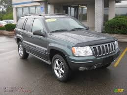 light green jeep cherokee 2002 jeep grand cherokee overland 4x4 in onyx green pearlcoat