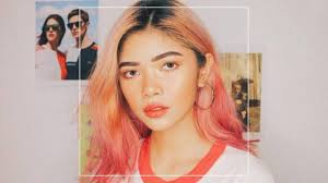 hair color for pinays this pinay beauty influencer proves sunset hair is the must have