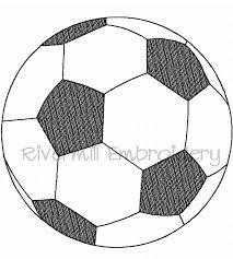 raggy applique sketch soccer ball machine embroidery design