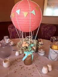air balloon centerpiece for baby mara s shower things i ve