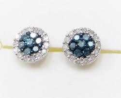 blue diamond stud earrings 14 best blue diamond jewelry images on blue diamond