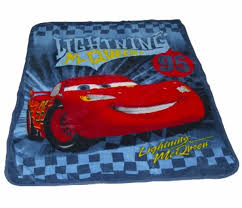 disney cars lightning mcqueen plush throw blanket 50
