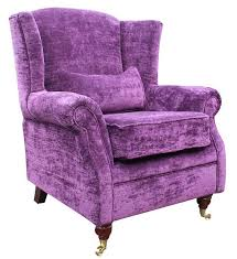 Purple Chair Uk Chair Fireside High Back Armchair Velluto Amethyst Purple Fabric