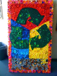Canned Food Sculpture Ideas by Here U0027s An Idea For Upcycled Plastic Bottle Cap Wall Art From