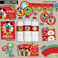 mickey mouse clubhouse party mickey mouse clubhouse printable party package