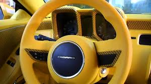 chevorlet camaro customized yellow interior youtube