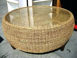round rattan side table rattan coffee table round coffee table round rattan coffee table