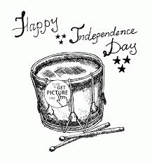 drum american symbol independence day coloring page for kids