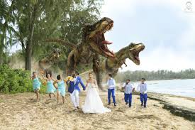 wedding quotes reddit this wedding photo is a jurassic park fan s come true