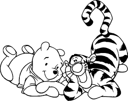 winnie the pooh and winnie bear coloring page wecoloringpage