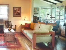 exposed wood frame sofa scandinavian sofas u0026 loveseats southwestern mission country wood