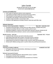 Sample Customer Service Resumes Customer Service Resume With Experience Free Download For