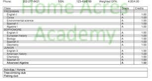 transcripts u2013 homeschooling for college credit