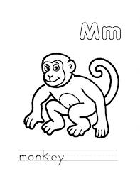monkey coloring download u0026 print coloring