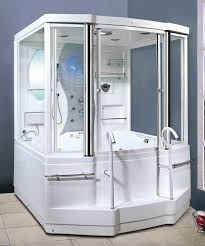 Shower Ideas For Master Bathroom Colors Bathroom Fresh White Steam Shower With Modern Style Design And