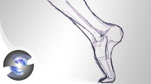 how to draw the foot youtube