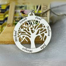 Personalized Necklaces For Her Aliexpress Com Buy Personalized Family Tree Necklace Engraved