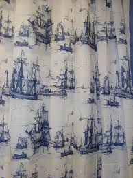 beautiful nautical curtains for shower and windows