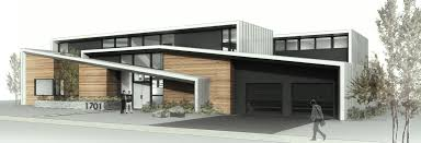 modern two storey home with narrow roof lines by elemental design