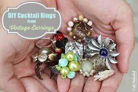 make rings images How to make a ring from vintage earrings jpg