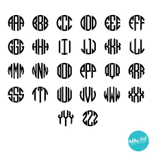 3 letter monogram 3 letter circle monogram wall decal polka dot wall stickers