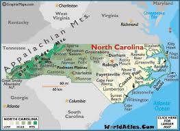 carolina map geography of carolina map of