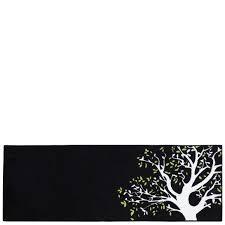 tapis cuisine noir tapis de cuisine noir árbol 50x140 cm chloé home