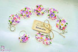 handmade flower bracelet images Girls jewelry flower ring flower earrings flower jewelry jpg