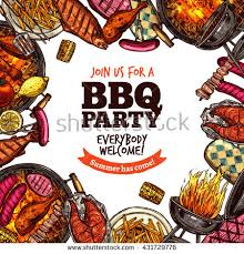 bbq grill color sketch stock vector 431729776