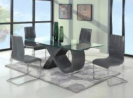 Contemporary Dining Sets by Contemporary Gray Base Glass Dining Table Modern Dining