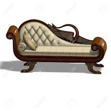 3d rendering of a very comfortable sofa from biedermeier time