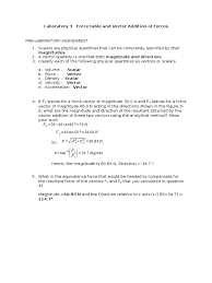 force table and vector addition lab report euclidean vector force