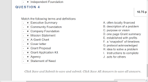 match the following terms and definitions executiv chegg com