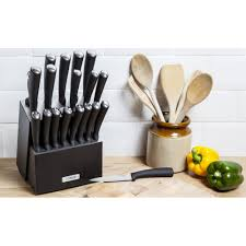 19 piece knife block set knives