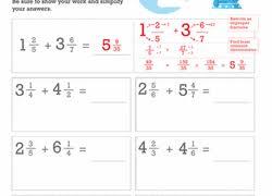 5th grade fractions worksheets u0026 free printables education com