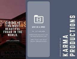 production company grey production company brochure templates by canva