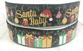 christmas ribbon wholesale 7 8 santa baby santa ribbon black us designer ribbon gold