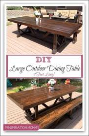 Patio Table Seats 10 Diy Large Outdoor Dining Table Outdoor Dining Backyard And Patios