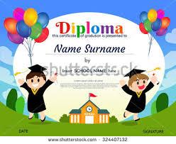 preschool graduation certificate certificates kindergarten elementary school diploma certificate