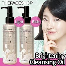 the face shop rice water bright cleansing light oil уценка рисовое гидрофильное масло the face shop rice water bright