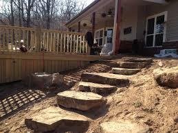 Backyard Steps Ideas Backyard Landscape Hardscape Ideas In Tulsa