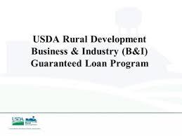Usda Rual Development Usda B U0026i Loan Program Ppt Download