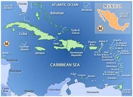 caribbean vacation destinations map enjoy the most beautiful