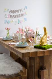 easter table setting town