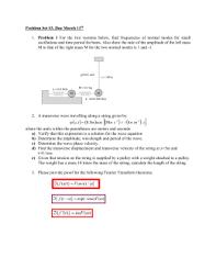 waves problems worksheet ii