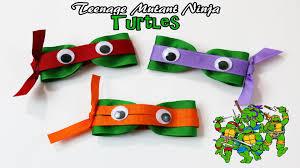 diy teenage mutant ninja turtle hair clips tmnt hair bows youtube