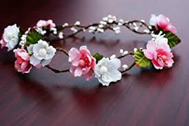 bridal flower bridal flower crown floral crown wedding wreath boho