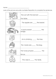 all worksheets printable preposition worksheets with pictures